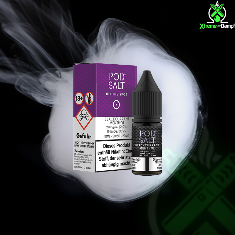PodSalt | Blackcurrant Menthol 20mg Nikotin Salz