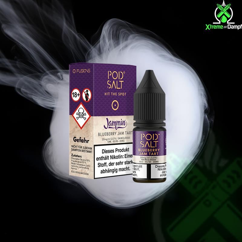 PodSalt Fusion | Jammin - Blueberry Jam Tart 20mg Nikotin Salz