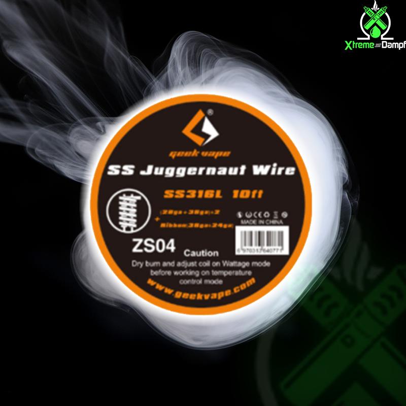 GeekVape | Wire | SS Juggernaut (28ga + 38ga) *2 + Ribbon (38ga * 24ga) ZS04